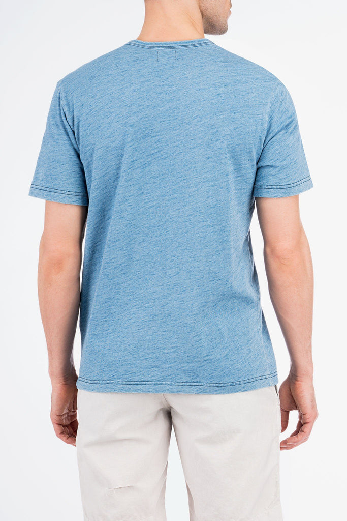 Indigo Pocket Tee - Light Wash Indigo