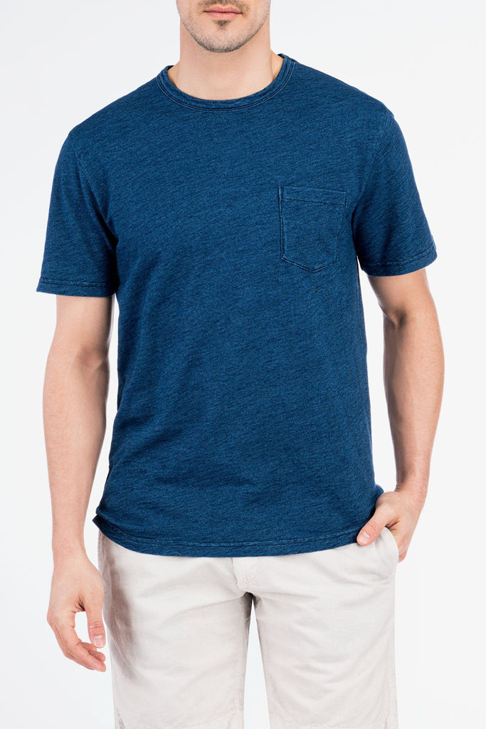 Indigo Pocket Tee - Medium Wash Indigo