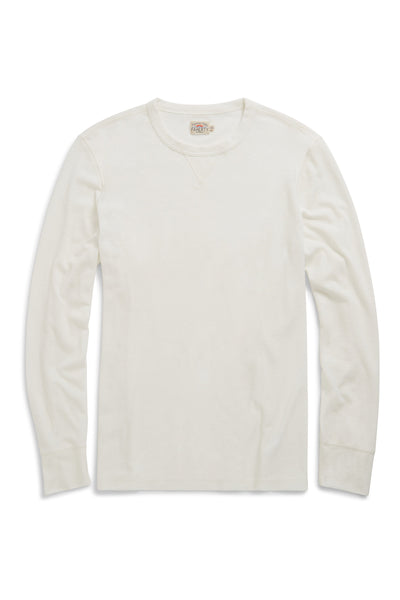 Long-Sleeve Thermal Crewneck  - Oat