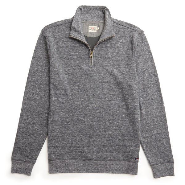 Heather Dual Knit Pullover - Charcoal