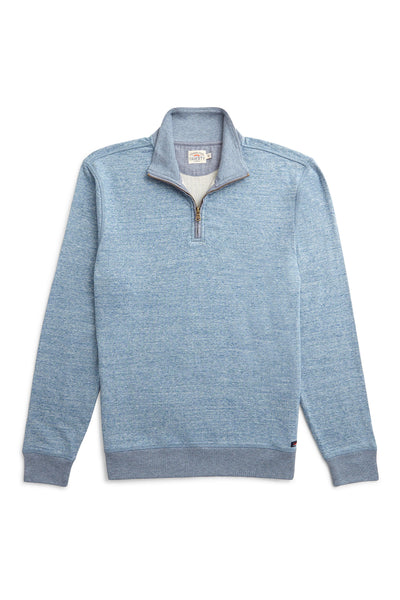 Heather Dual Knit Pullover - Medium Blue