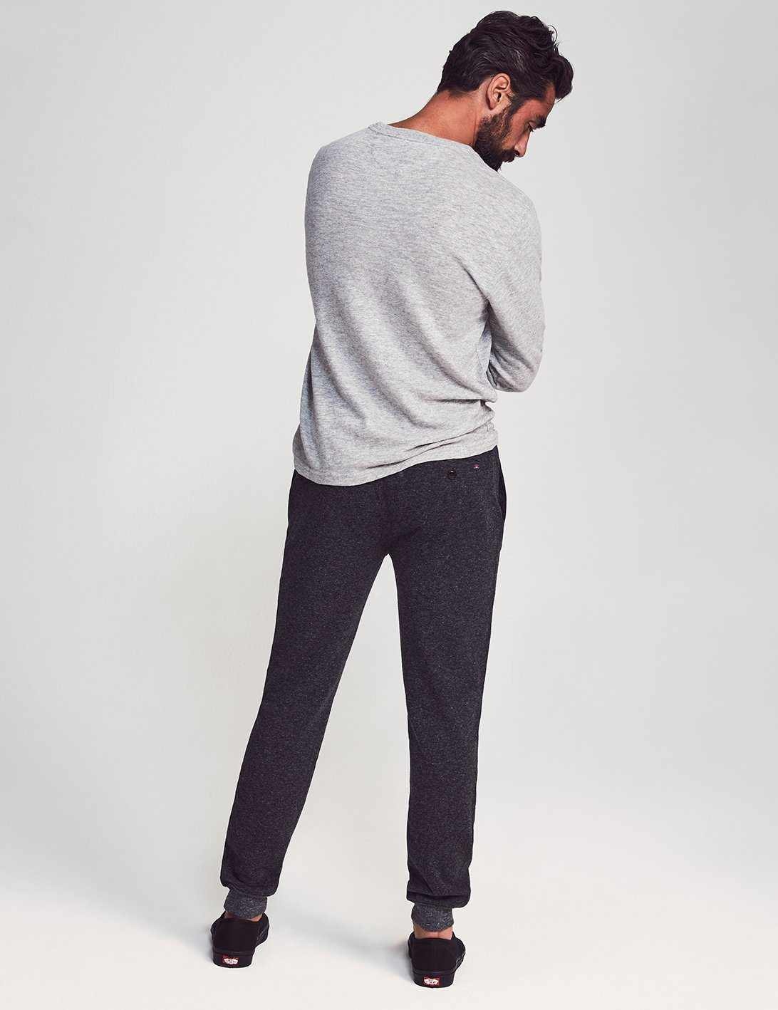 Dual Knit Joggers - Washed Black