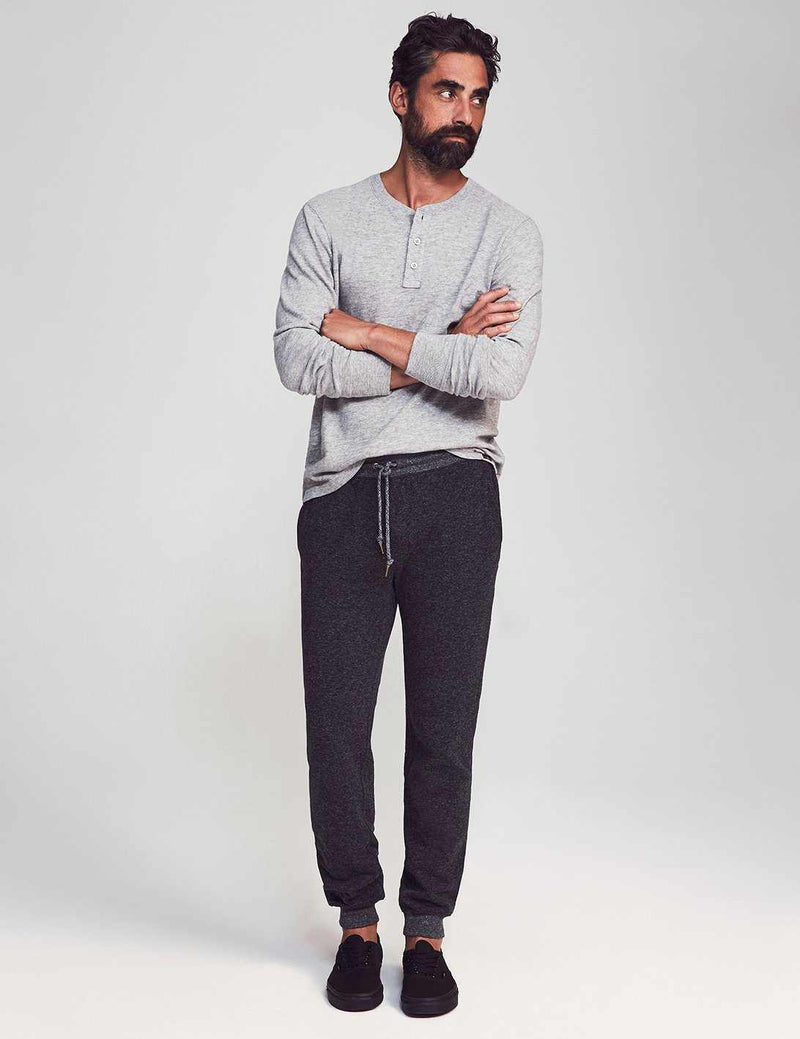 Dual Knit Sweatpants - Washed Black