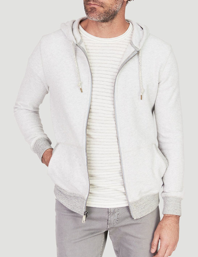Saturday Zip Hoodie - Athletic Grey