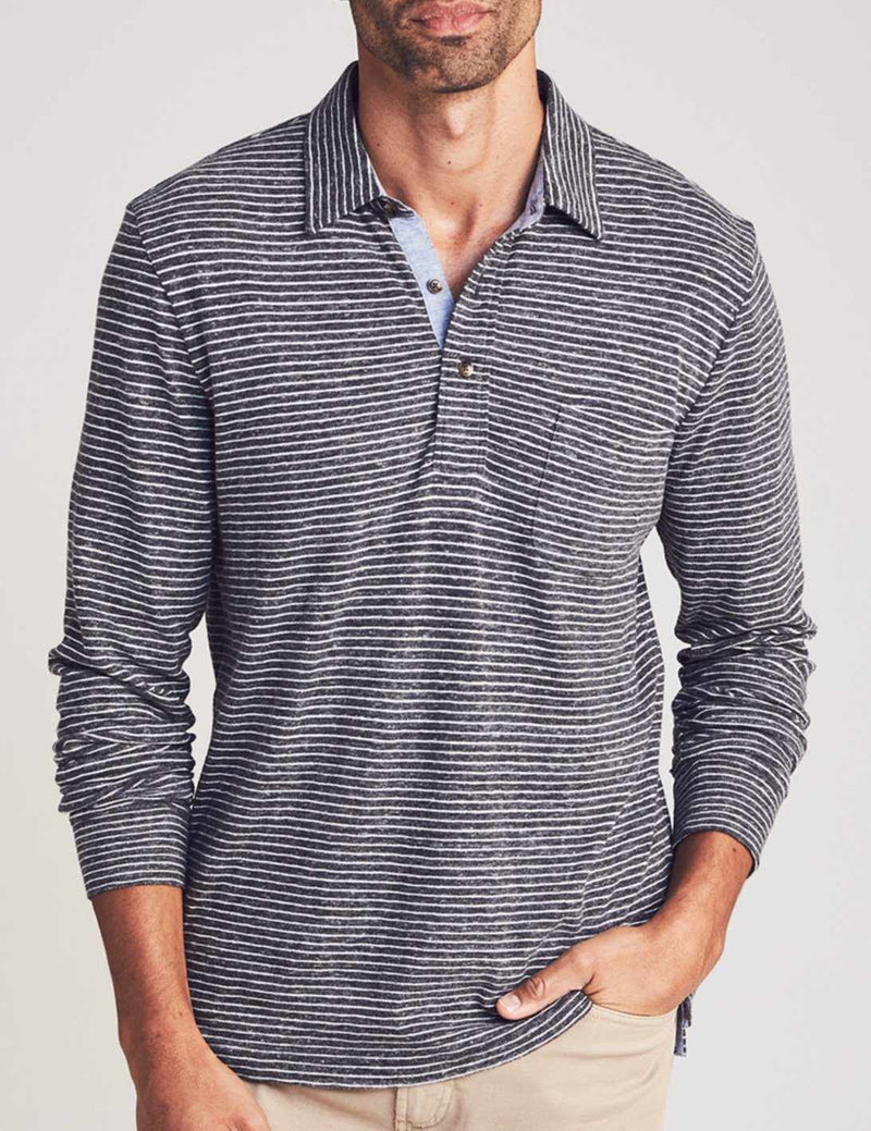 Long-Sleeve Luxe Heather Polo