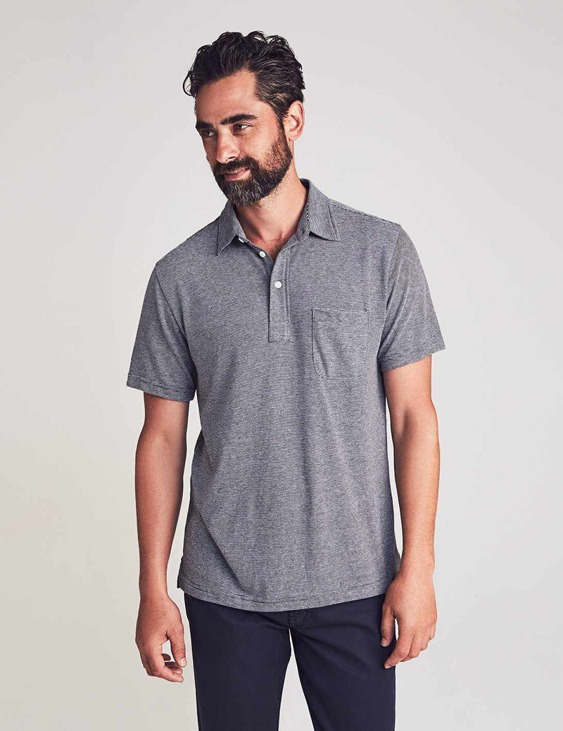 Perfect Jersey Polo - Grey End On End