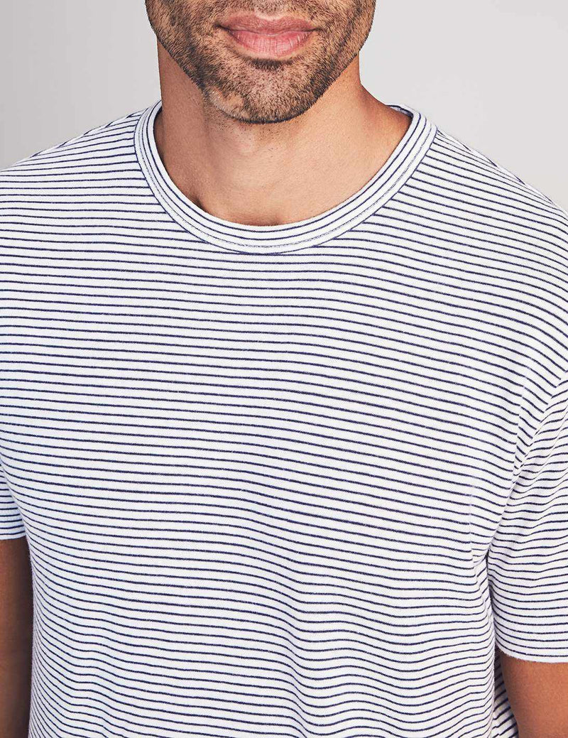 Perfect Jersey Tee - Cream/Navy Stripe