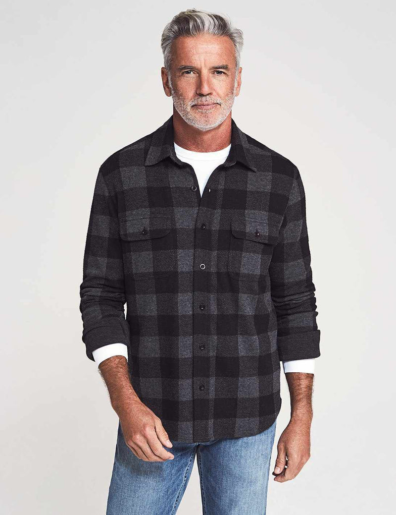 Legend Sweater Shirt - Charcoal Black Buffalo
