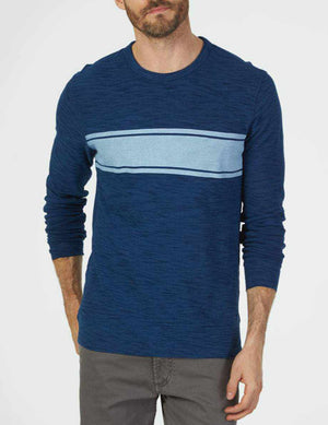 Long-Sleeve Surf Stripe Crew - Indigo