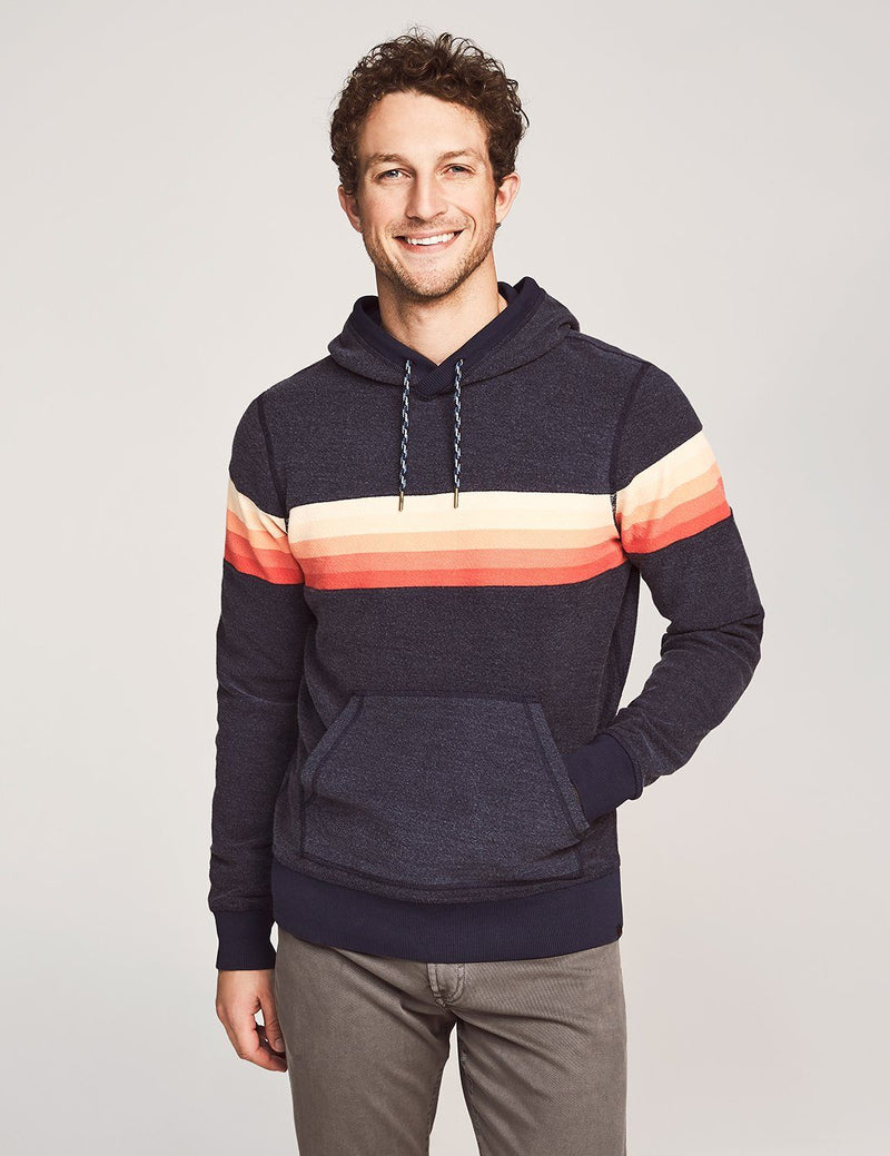 Gradient Stripe Hoodie - Navy Sunset Stripe