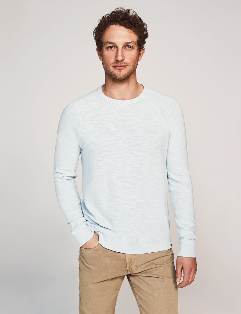 Slub Cotton Raglan Sweatshirt - Glacier Blue