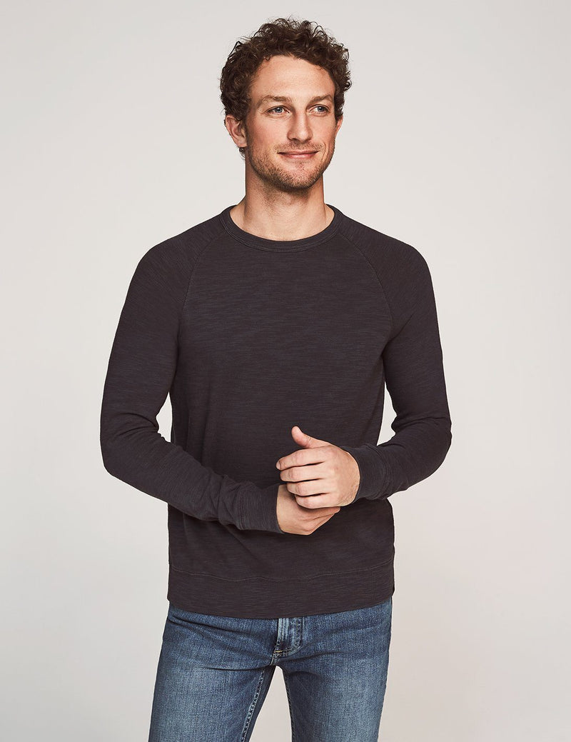 Slub Cotton Raglan Sweatshirt - Graphite