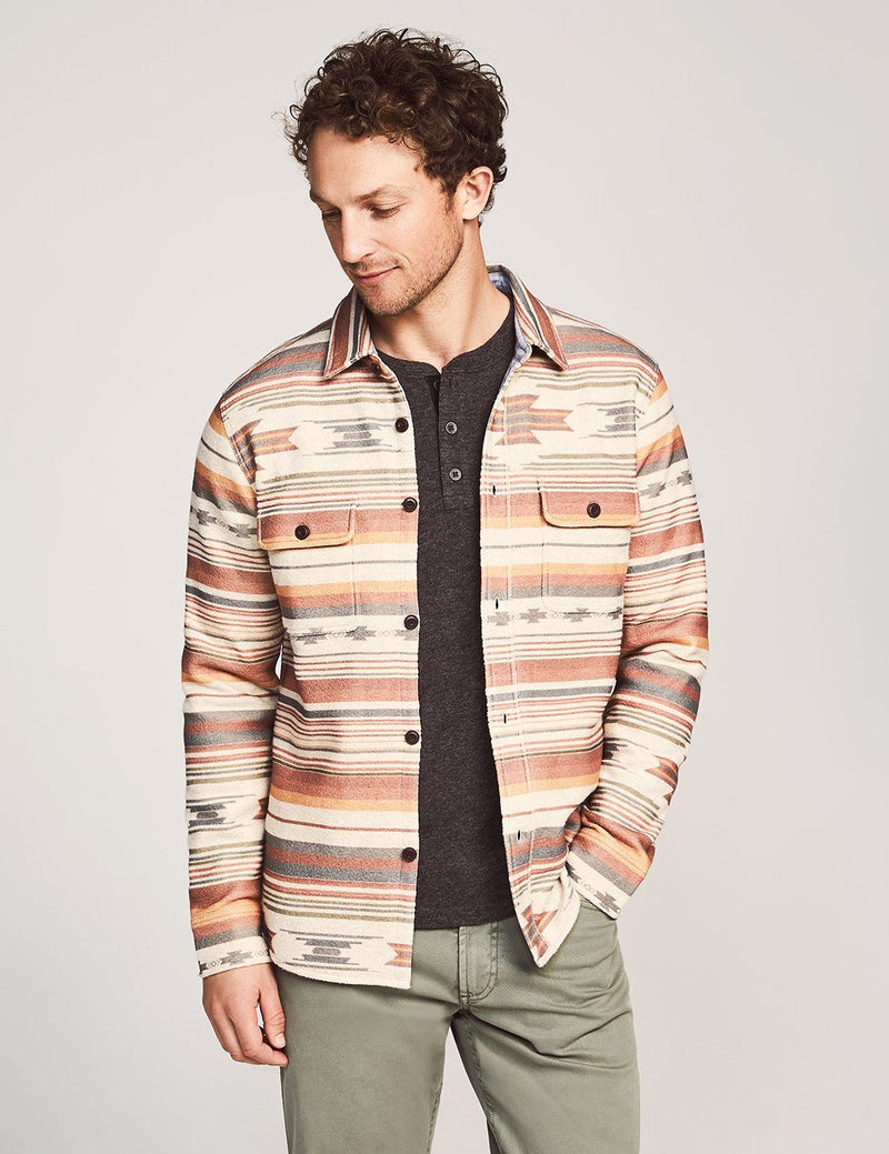Fleece Overshirt - Desert Serape