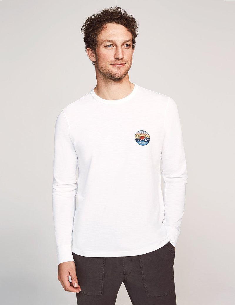 California Print Long-Sleeve Tee - White