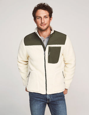 Sherpa Zip Jacket - Cream