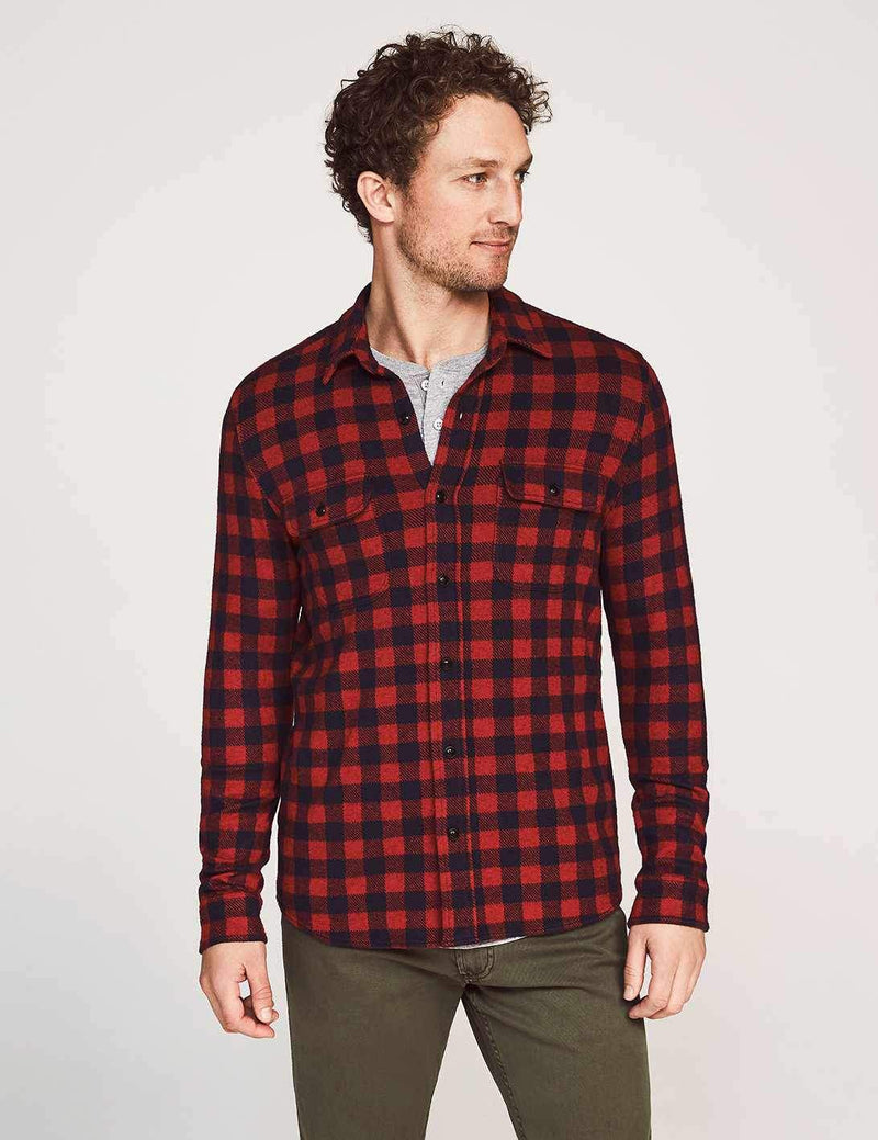 Legend Sweater Shirt - Red Navy Check