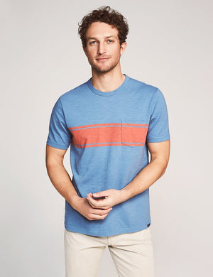 Short-Sleeve Surf Stripe Pocket Tee - Vintage Blue Surf Stripe