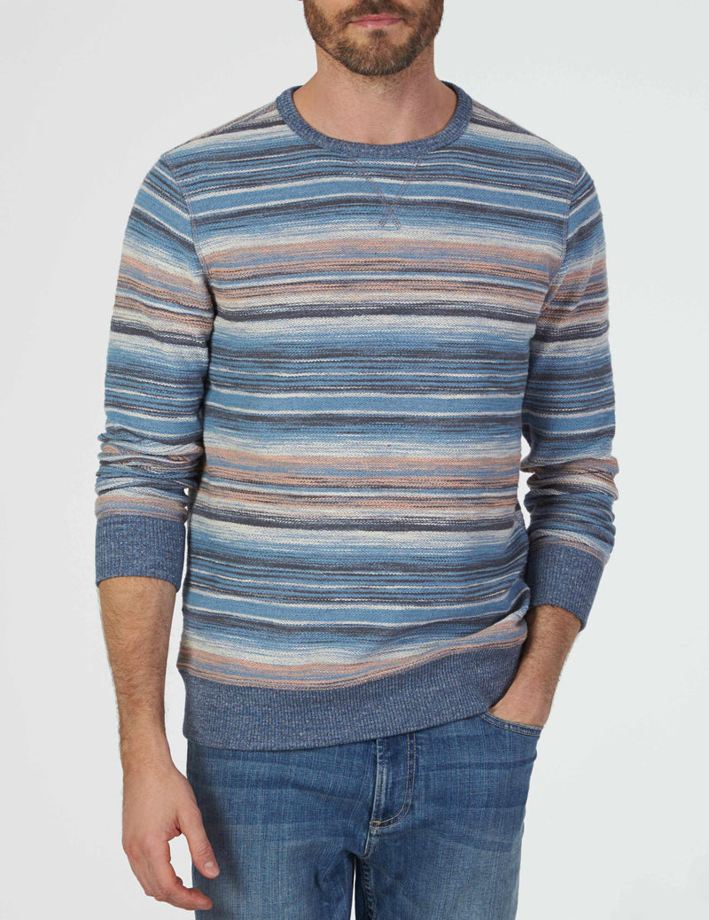 Reversible Terry Sweatshirt - Sun Valley Stripe