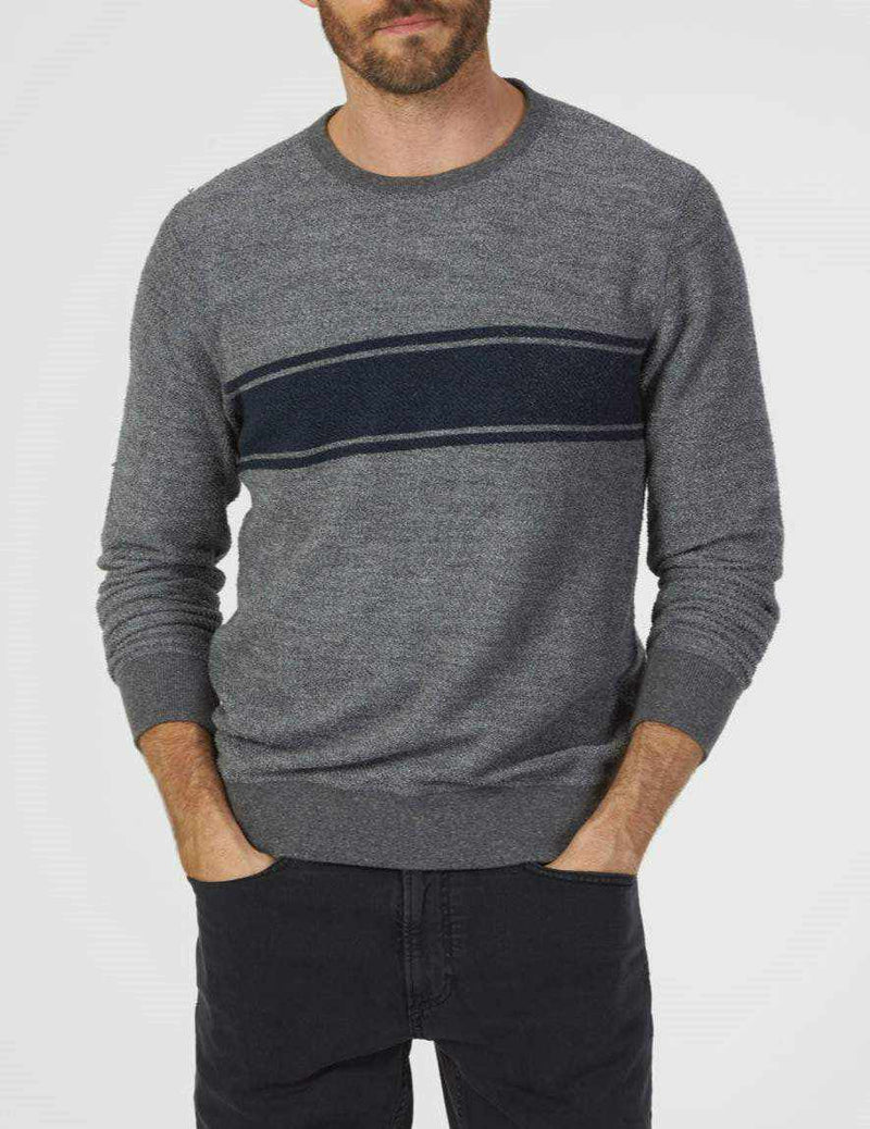 Reversible Surf Stripe Sweatshirt - Medium Grey