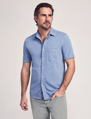 Short-Sleeve Knit Seasons Shirt - Mariner Blue