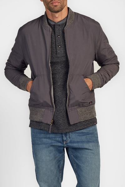 The Two-Way Bomber Jacket - Grey Heather