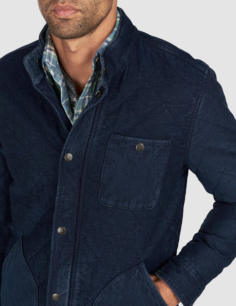 Quilted Barn Coat - Indigo