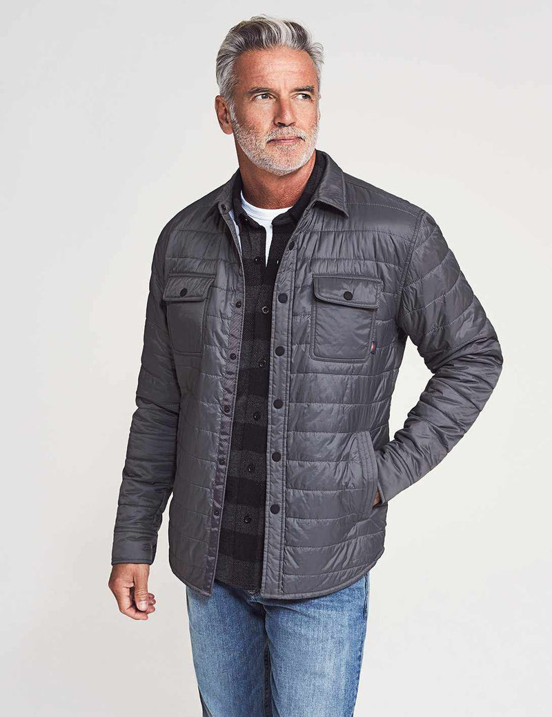 Atmosphere Packable Shirt Jacket - Grey