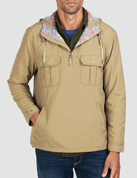 Blanket Lined Anorak - Tan