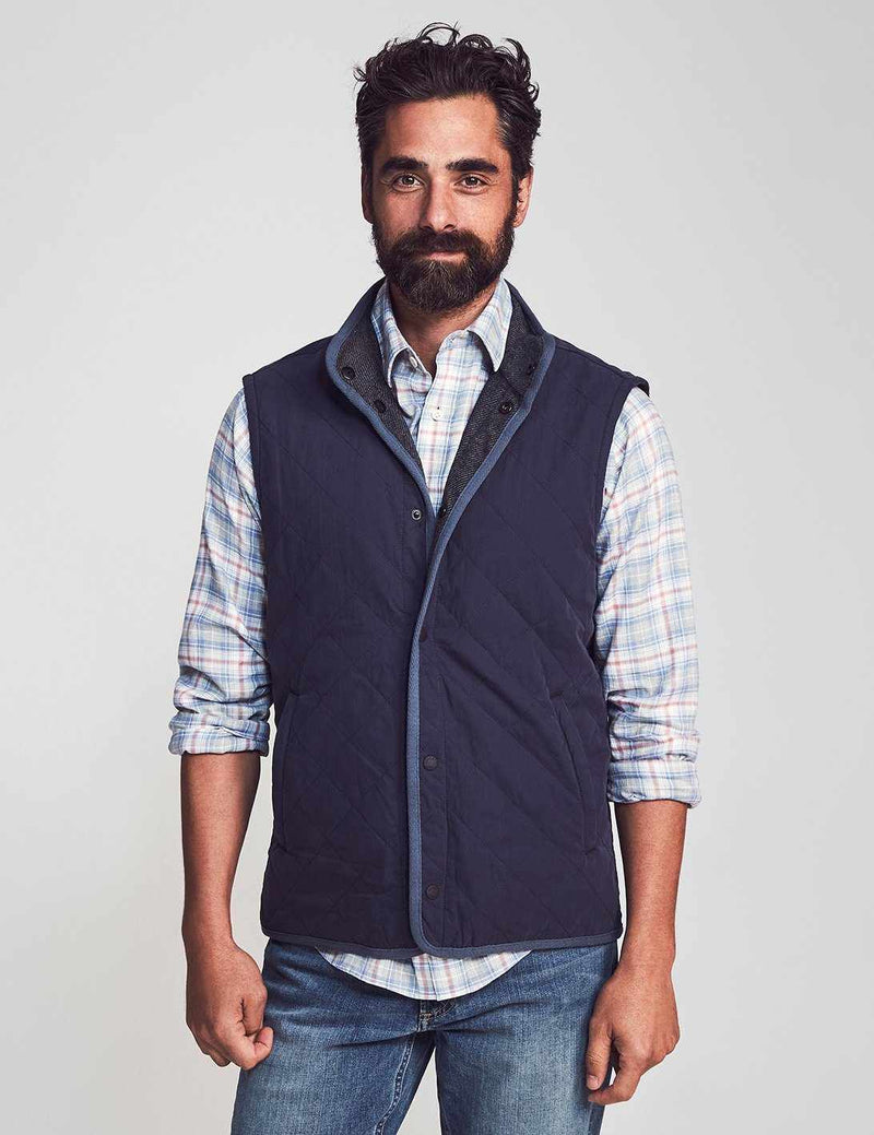 The Reversible Vest - Navy Charcoal