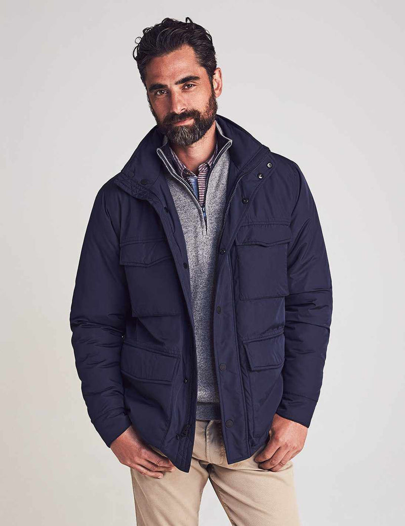 Quilted Thompson Field Jacket - Navy