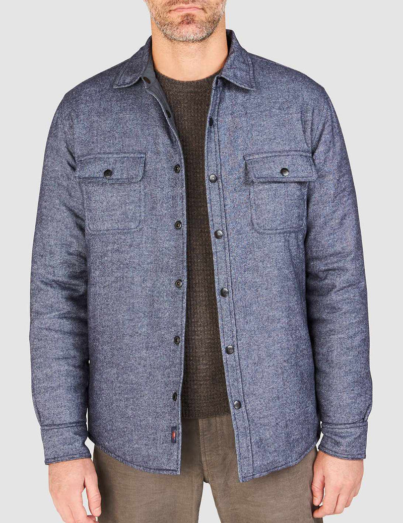 Reversible Rubicon Jacket - Blue Twill/Slate