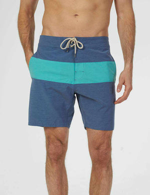 "Classic Boardshort (""7"") - Navy Green"