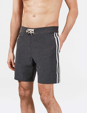 Surf Stripe Boardshort - Black