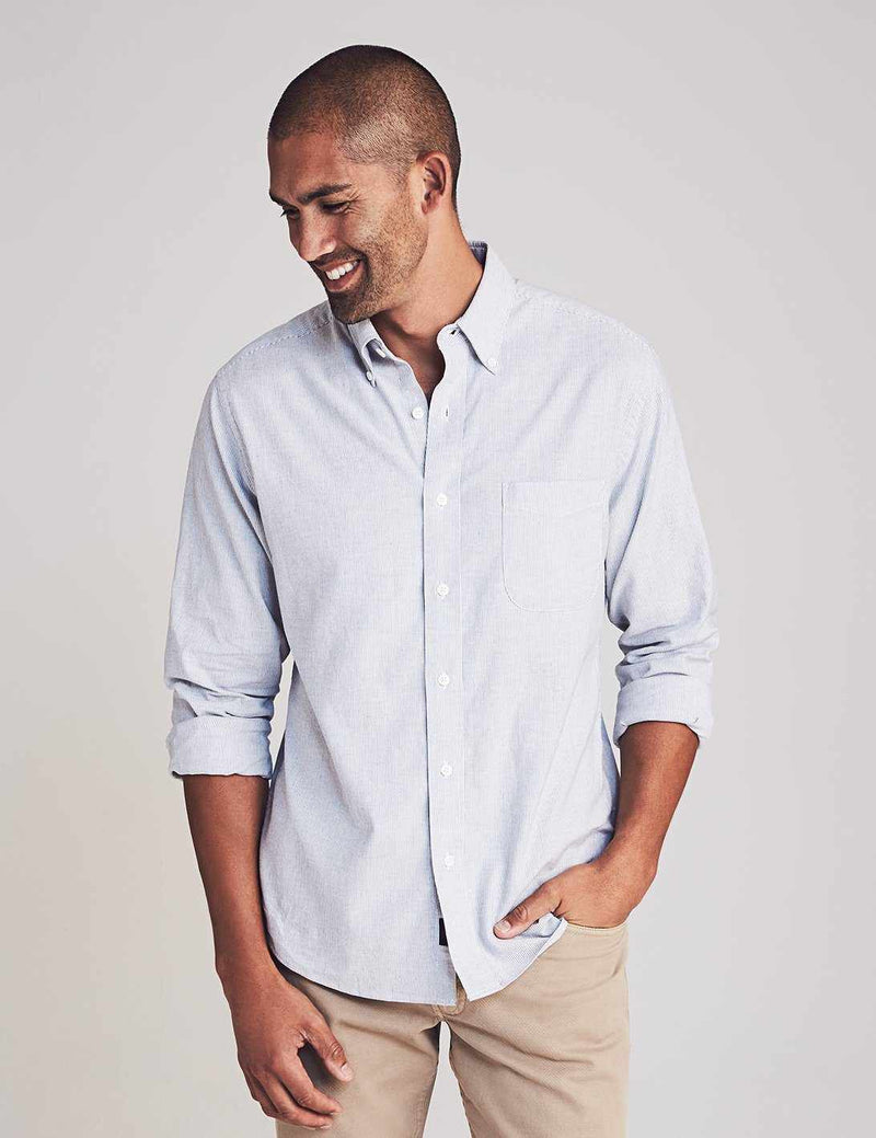 Stretch Oxford Shirt - Classic Stripe