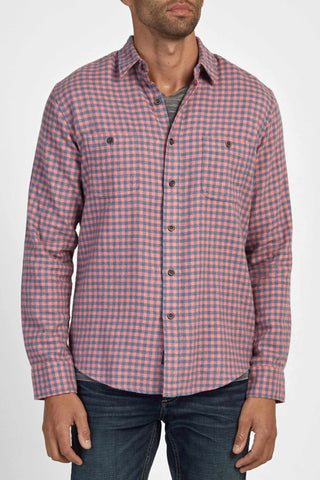 Brushed Alpine Flannel - Red & Navy Gingham