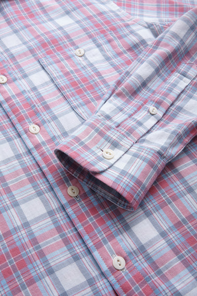 Signature Washed Twill Shirt - Berry Plaid