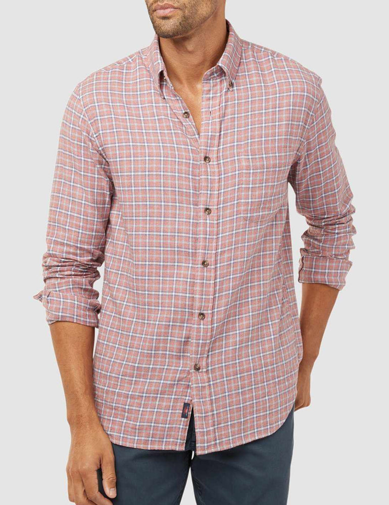 7a3521fba7c Everyday Button-Down Shirt - Heather Red Multi – Faherty Brand