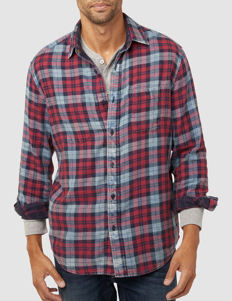 Reversible Belmar Shirt - Vintage Red/Indigo
