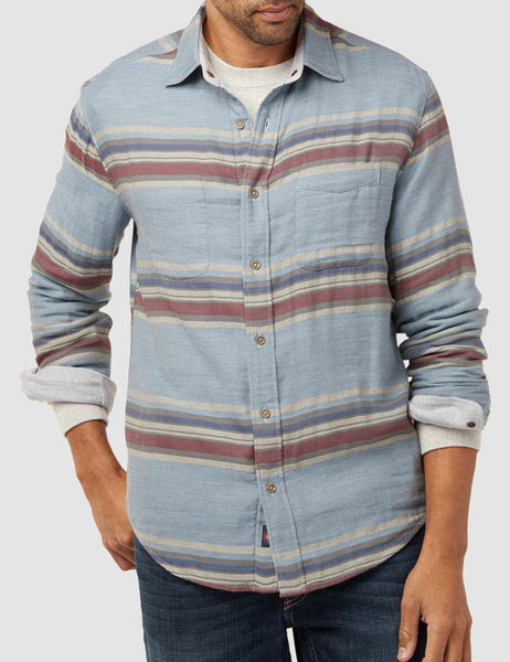Reversible Belmar Shirt - Light Grey/Serape