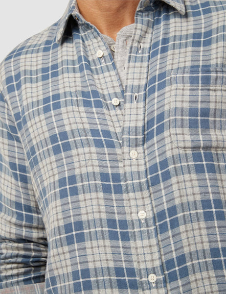 Reversible Belmar Shirt - Grey Heather Plaids