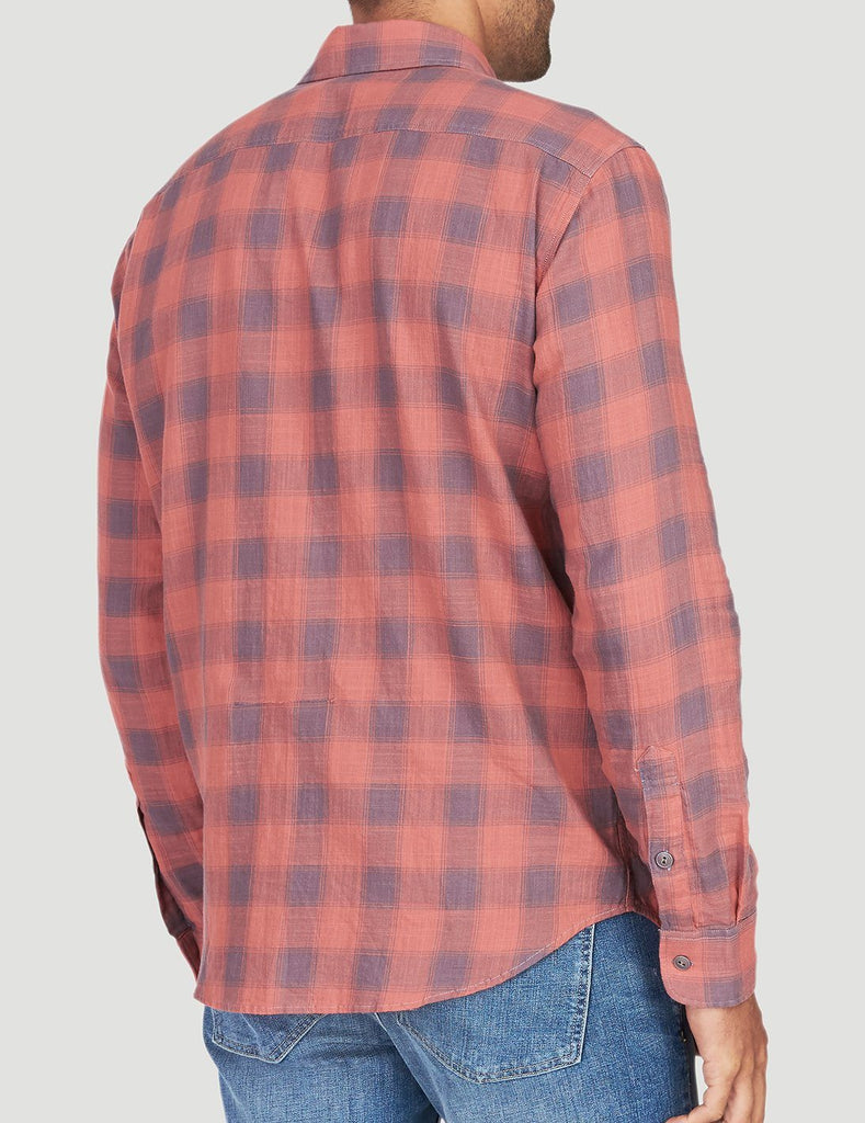 Belmar Shirt - Dusty Red Buffalo
