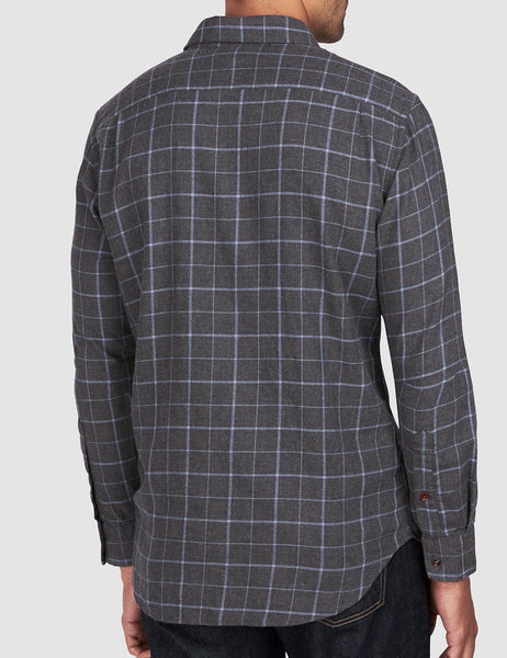 Ventura Shirt - Black Windowpane
