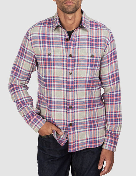 Brushed Alpine Flannel - Vintage Mountain Plaid