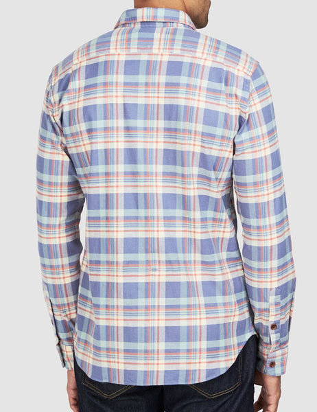 Stretch Seaview Shirt - Blue Cream Orange