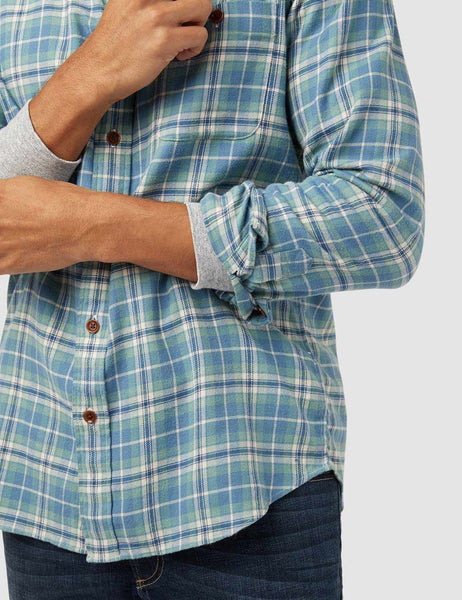 Stretch Seaview Shirt - Dusty Ocean Plaid