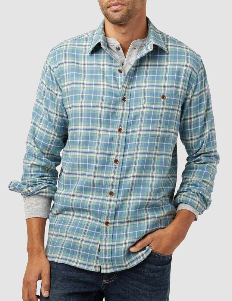 7d33fea5 Stretch Seaview Shirt - Dusty Ocean Plaid – Faherty Brand