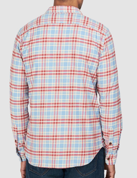 Stretch Seaview Shirt - Light Blue Red