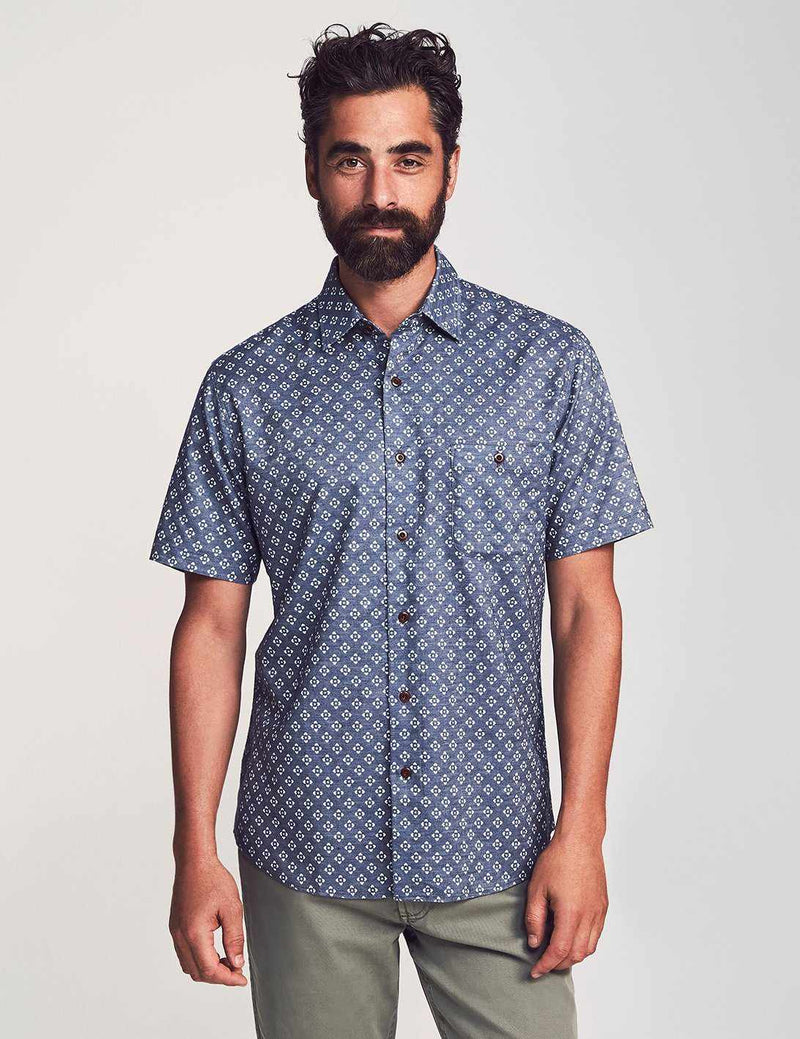 Short Sleeve Coast Shirt - Atlas Print