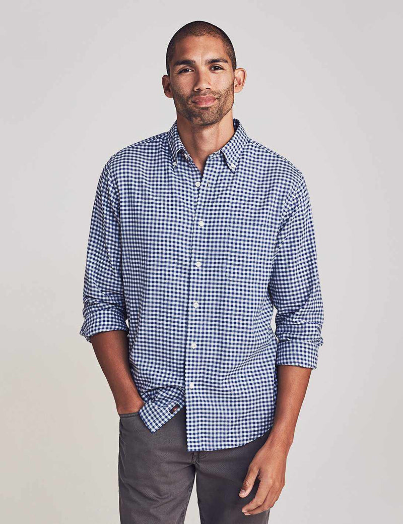 Everyday Button-Down Shirt - Navy Heather Gingham