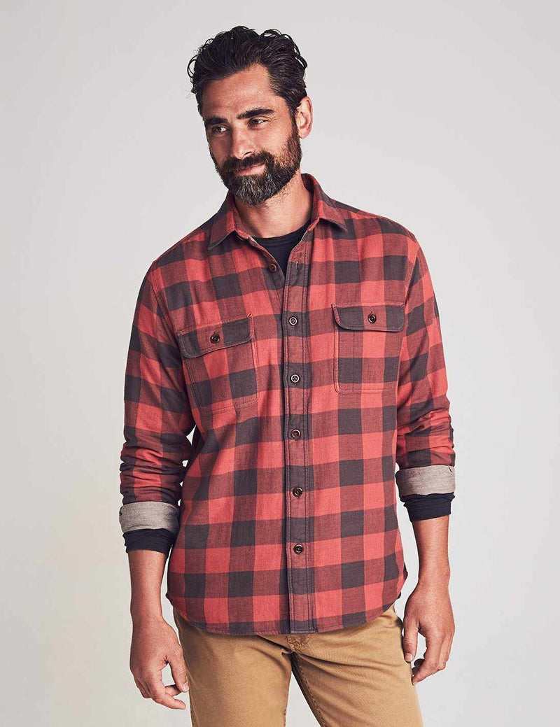 The Buffalo Workshirt - Vintage Red Charcoal